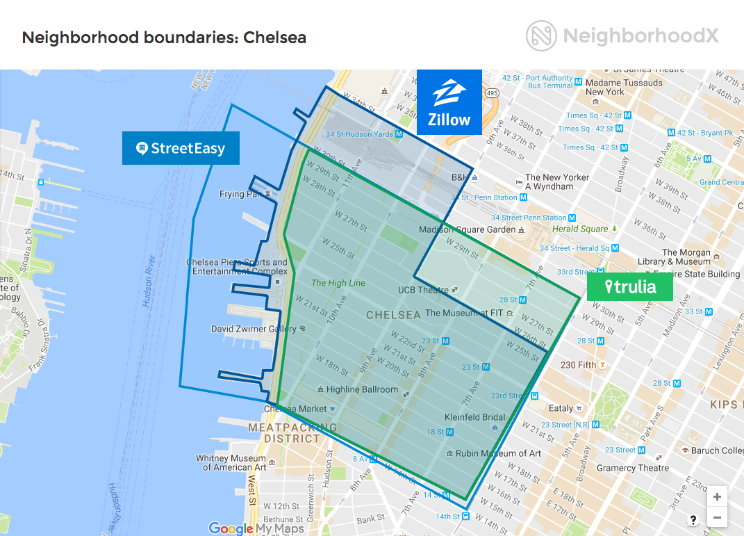 Shape-shifting NYC neighborhoods: Why search sites differ on ...