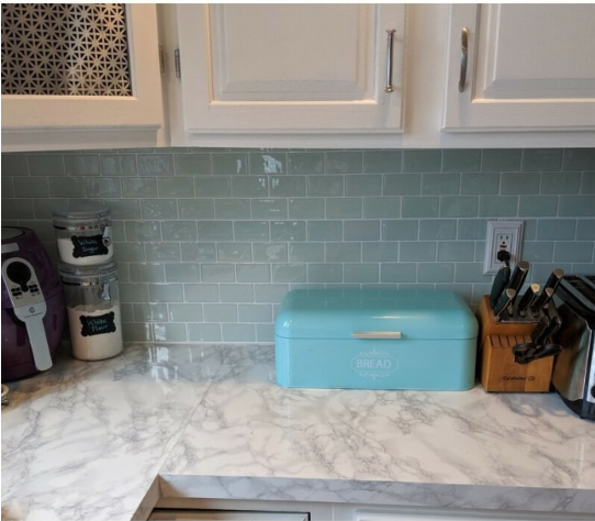 8 Self Adhesive Tile Designs So You Don T Have To Hate Your Kitchen Backsplash