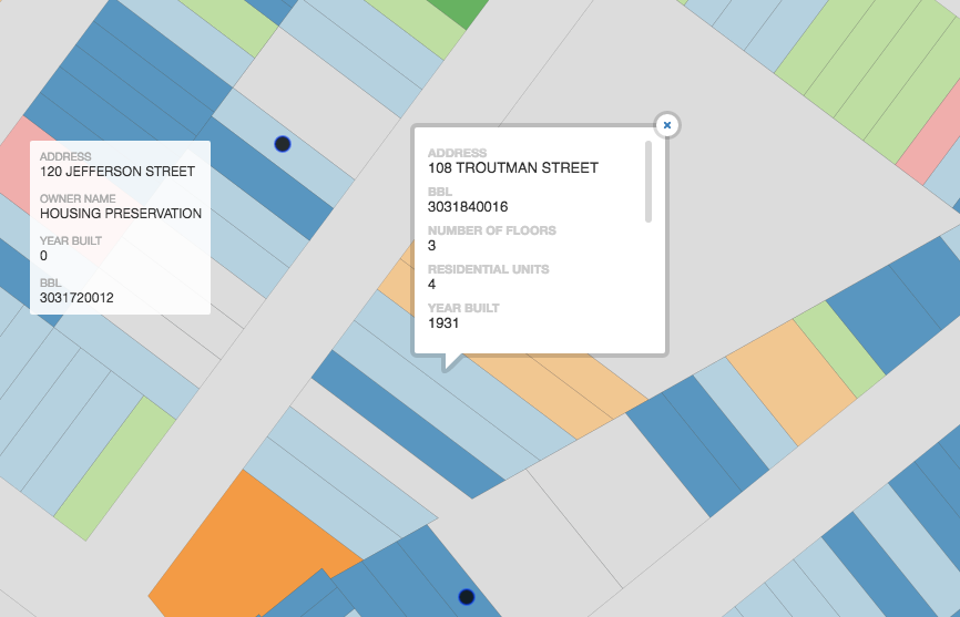 This interactive map helps Bushwick locals track gentrification as