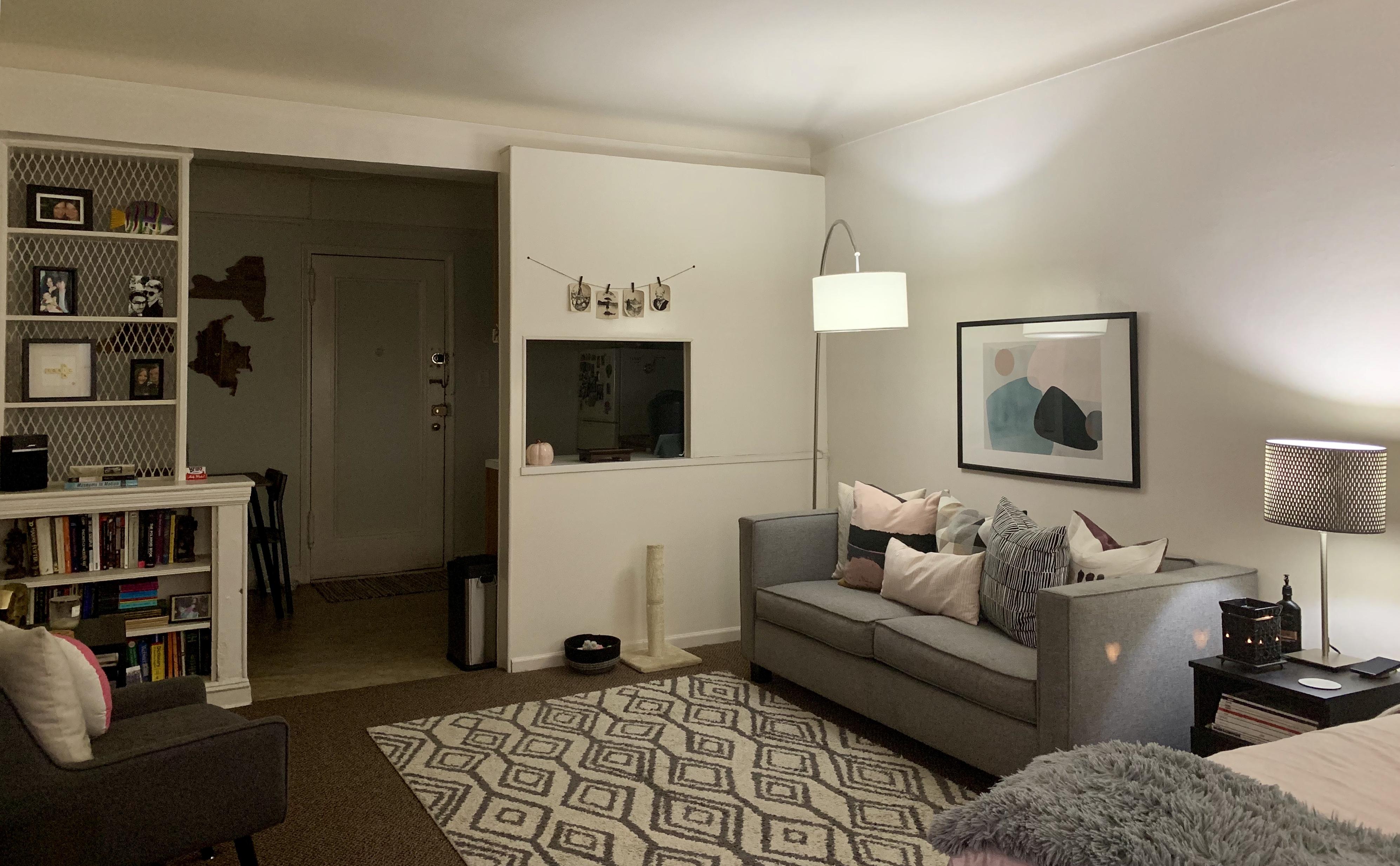 My Boyfriend And I Live In A 500 Square Foot Studio Here S How We Make It Work,Teak Wood Main Door Simple Design