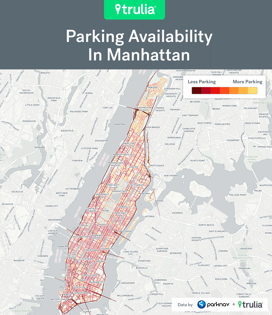 Nyc Parking Map Maps: the Manhattan and Brooklyn neighborhoods with the best  Nyc Parking Map