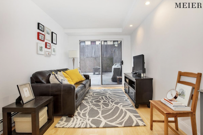 217 East 7th St Lla Is Ground Floor Condo In The Village On Market For 870 000 Its One Bedroom And Living Room Are Back Look Out