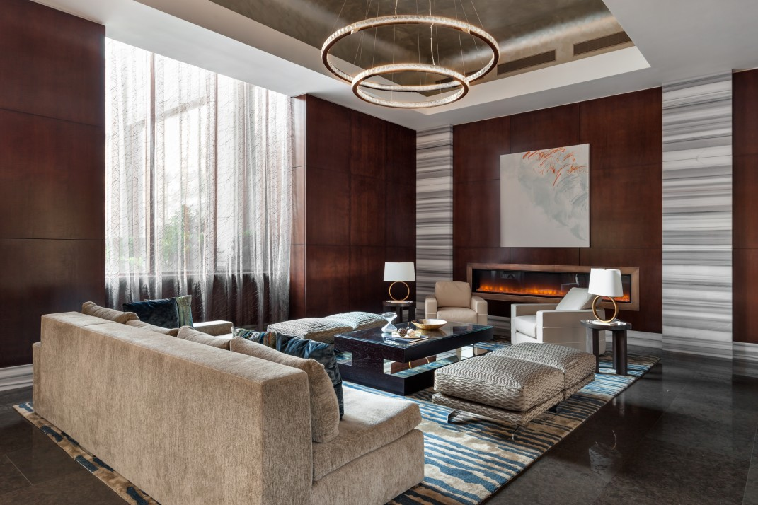 A Gut Renovation Transforms A NYC Condo Lobby From Forgettable To Glam Simple 1 Bedroom Condo Nyc Set Decoration