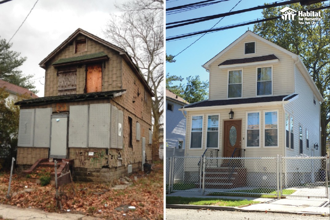 A Before After Of Two Homes From Queens Phase One 23 More In And Brooklyn Will Be Similarly Renovated Sold To Families At Affordable