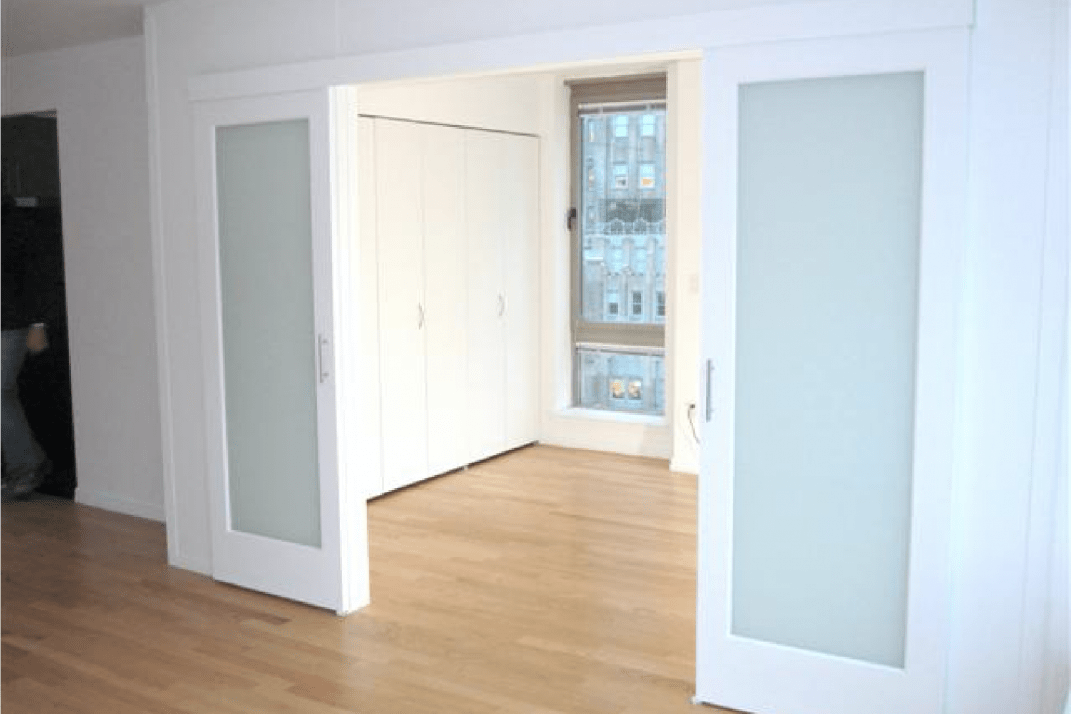 A Temporary Wall With Sliding Gl Doors Rooms Divider Ny