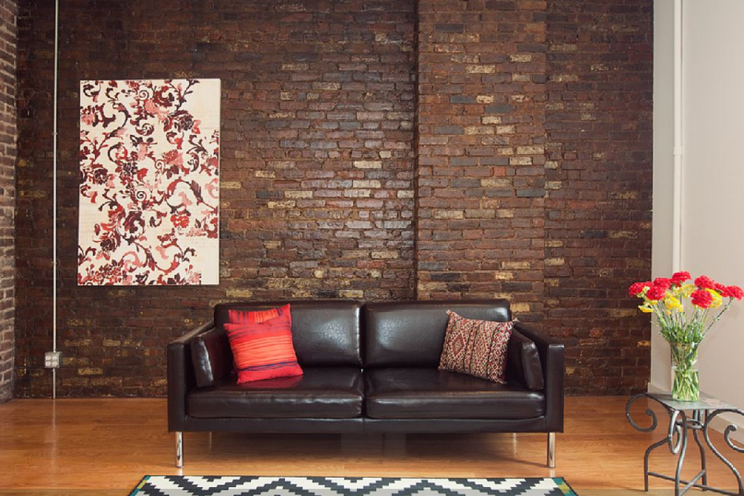 Exposed Brick Walls How To Hang A Picture On It Paint