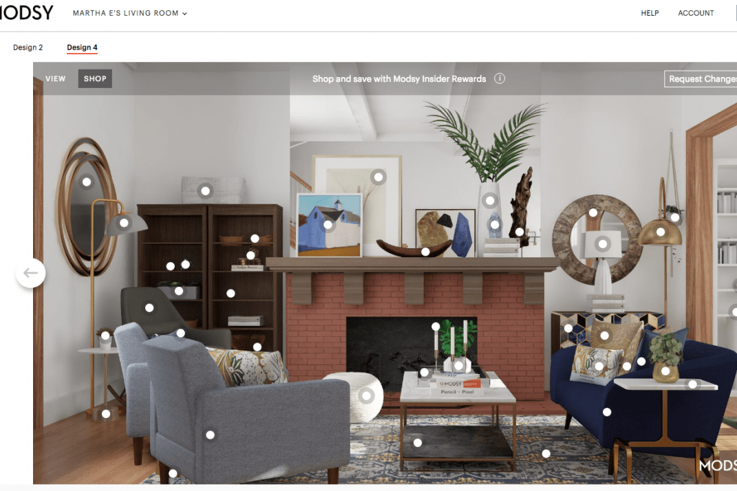 I redesigned my awkward living room with Modsy\'s virtual interior ...