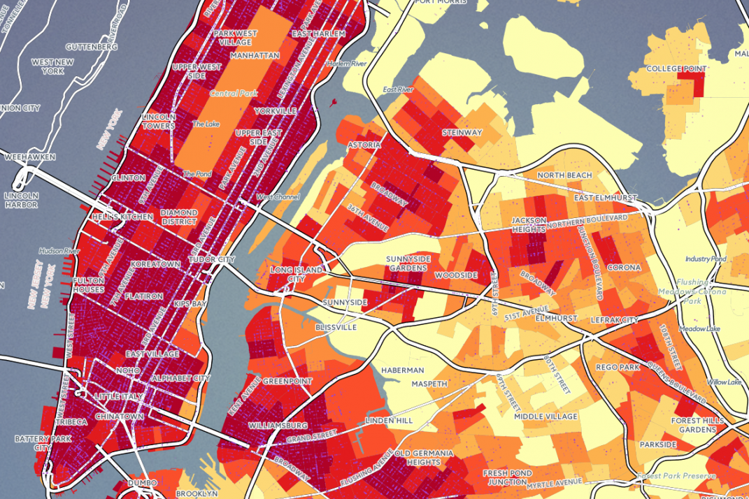 Map Which Nyc Neighborhoods Are The Noisiest