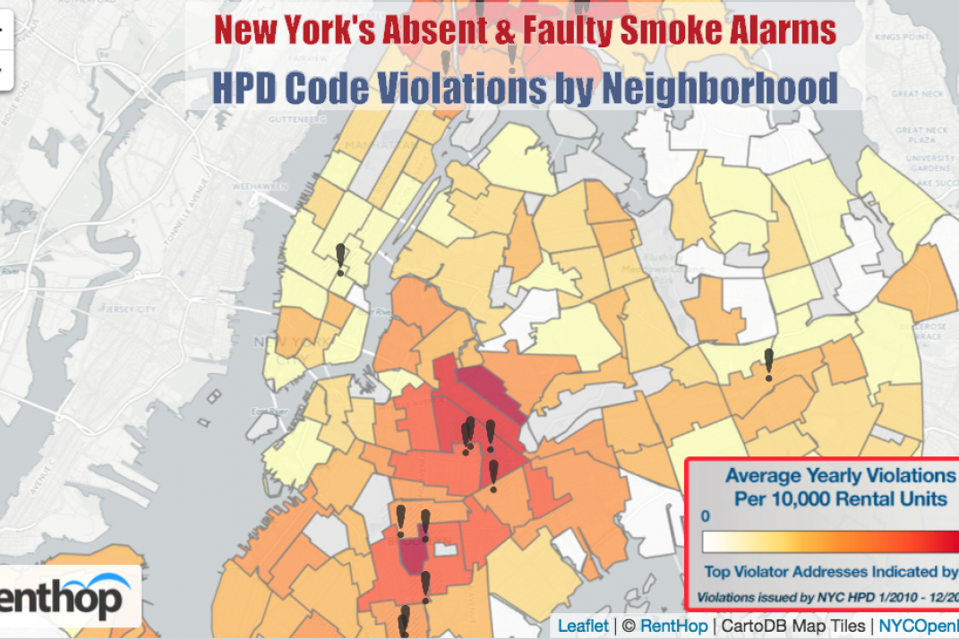 After Oakland Warehouse Fire Map Of Nyc Smoke Detector Violations