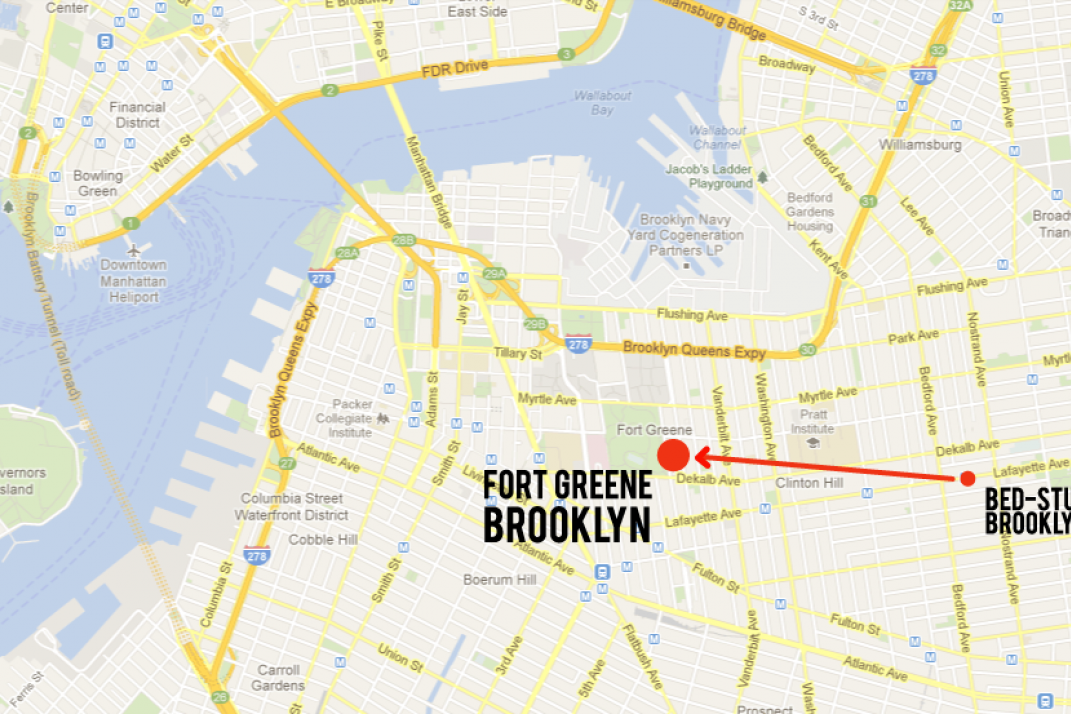 Fort Greene Subway Map.Bed Stuy To Fort Greene From An Up And Comer To Already There