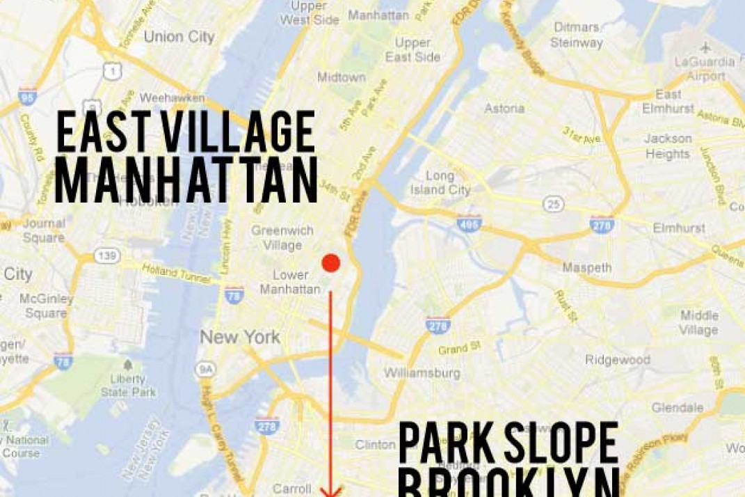 East Village To Park Slope Closer To The Subway And Still