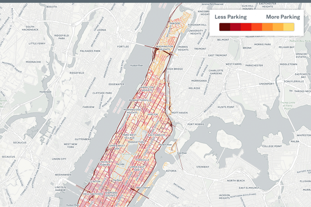 Road Map Of Manhattan.Maps The Manhattan And Brooklyn Neighborhoods With The Best Parking