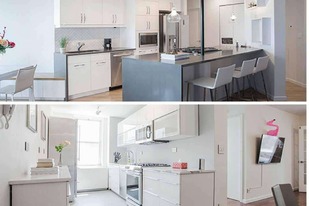 Stupendous Before After Two Manhattan Kitchens Two Glossy And Home Interior And Landscaping Ologienasavecom