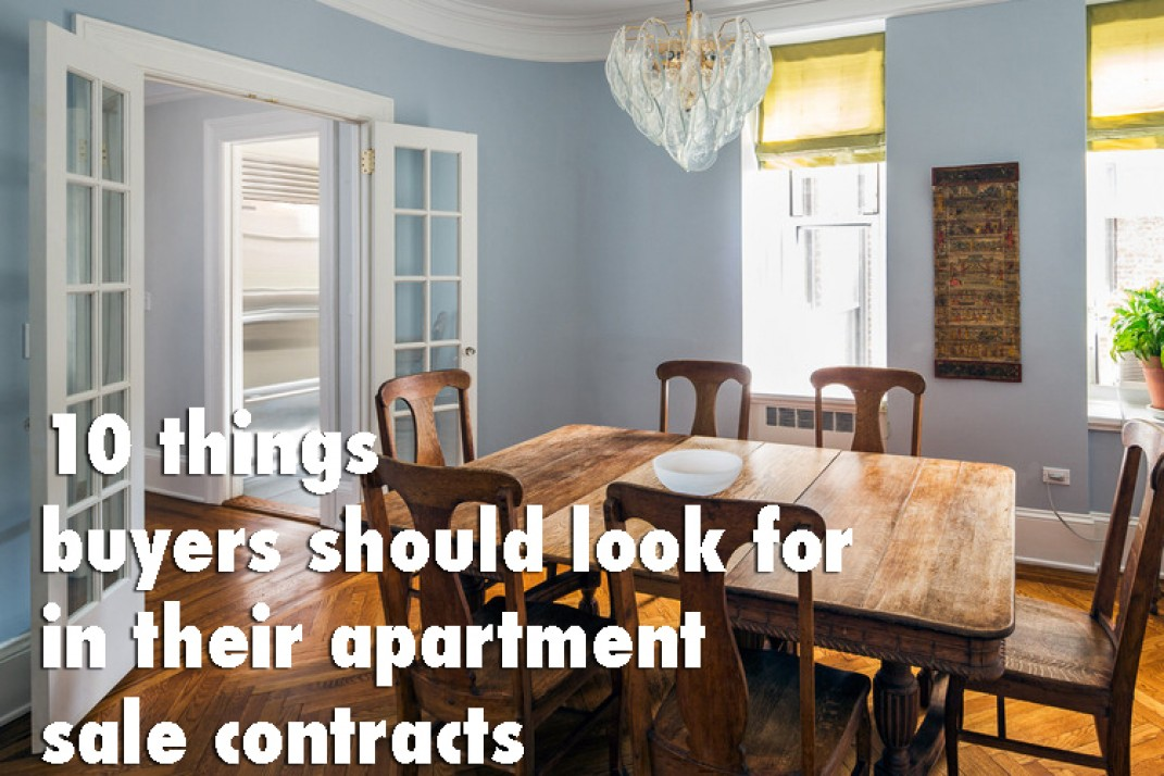 10 things NYC buyers should look for in their apartment sale