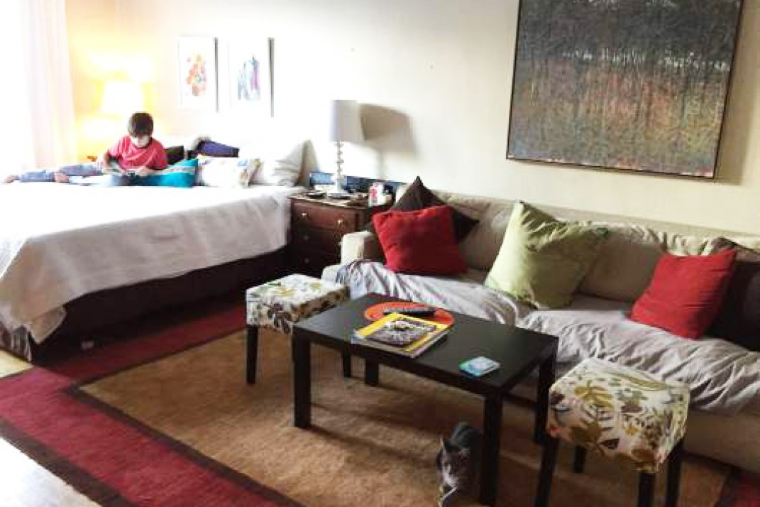 Raising kids in a one-bedroom: How one family makes it work