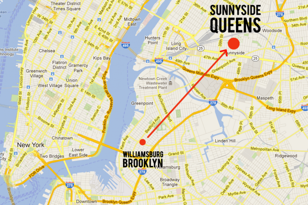 Williamsburg, Brooklyn to Sunnyside, Queens: Goodbye hipster haven