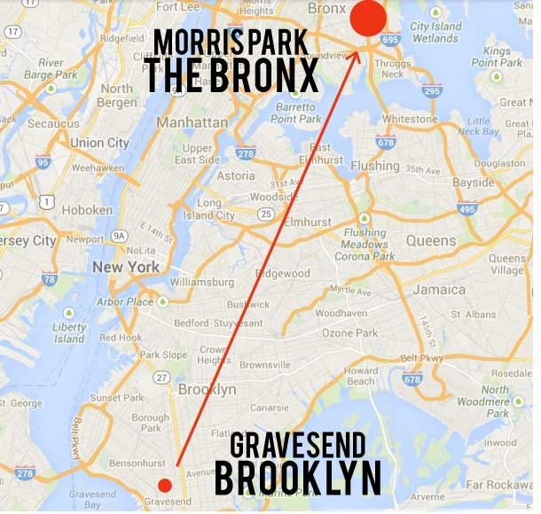 Gravesend, Brooklyn to Morris Park, the Bronx: My new