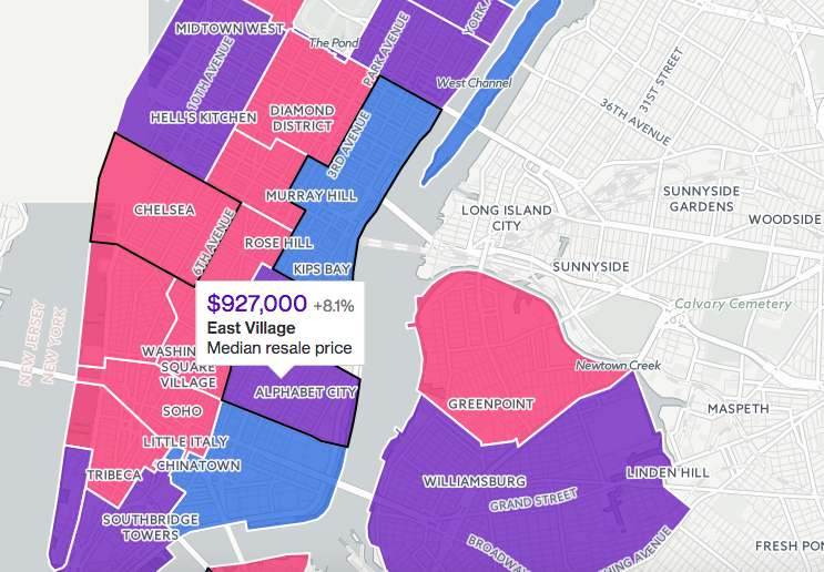 Nyc Neighborhood Map Map: How much leverage do buyers have in your NYC neighborhood? Nyc Neighborhood Map
