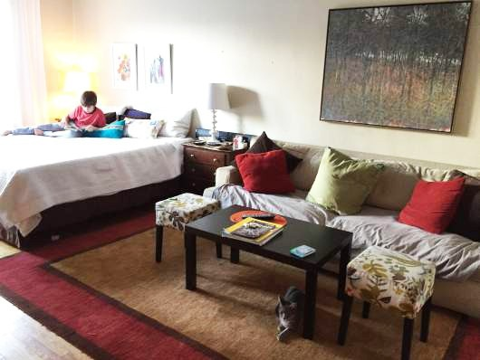 Raising Kids In A Onebedroom How One Family Makes It Work Adorable Living Room And Bedroom In One