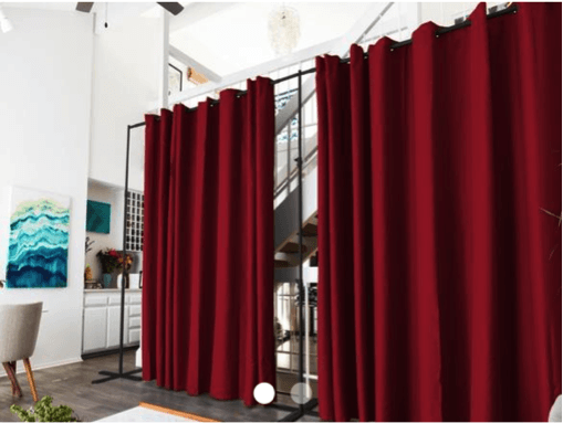 No Temporary Walls Allowed Using Curtain Room Dividers In