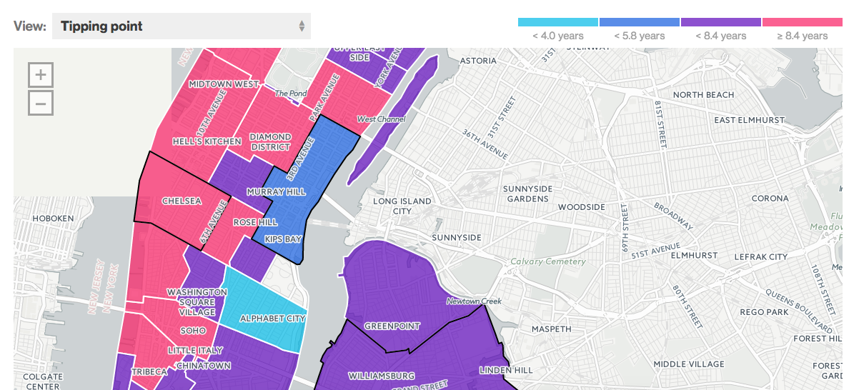 Map: How much leverage do buyers have in your NYC neighborhood?