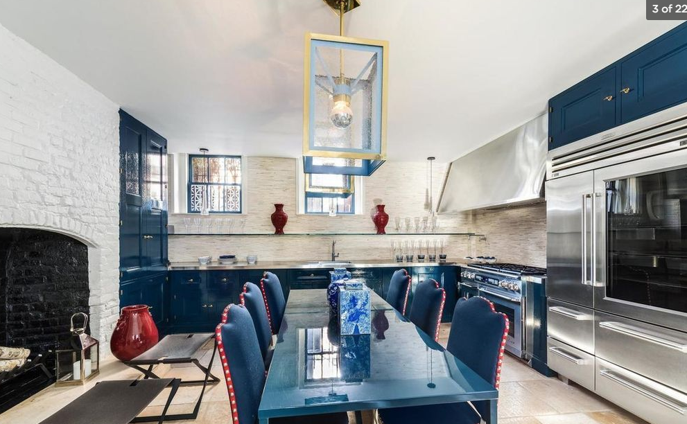 Shades Of Blue This West Village Townhouse Is Stylish With Striking Hues