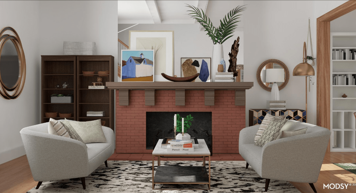I redesigned my awkward living room with Modsy's virtual