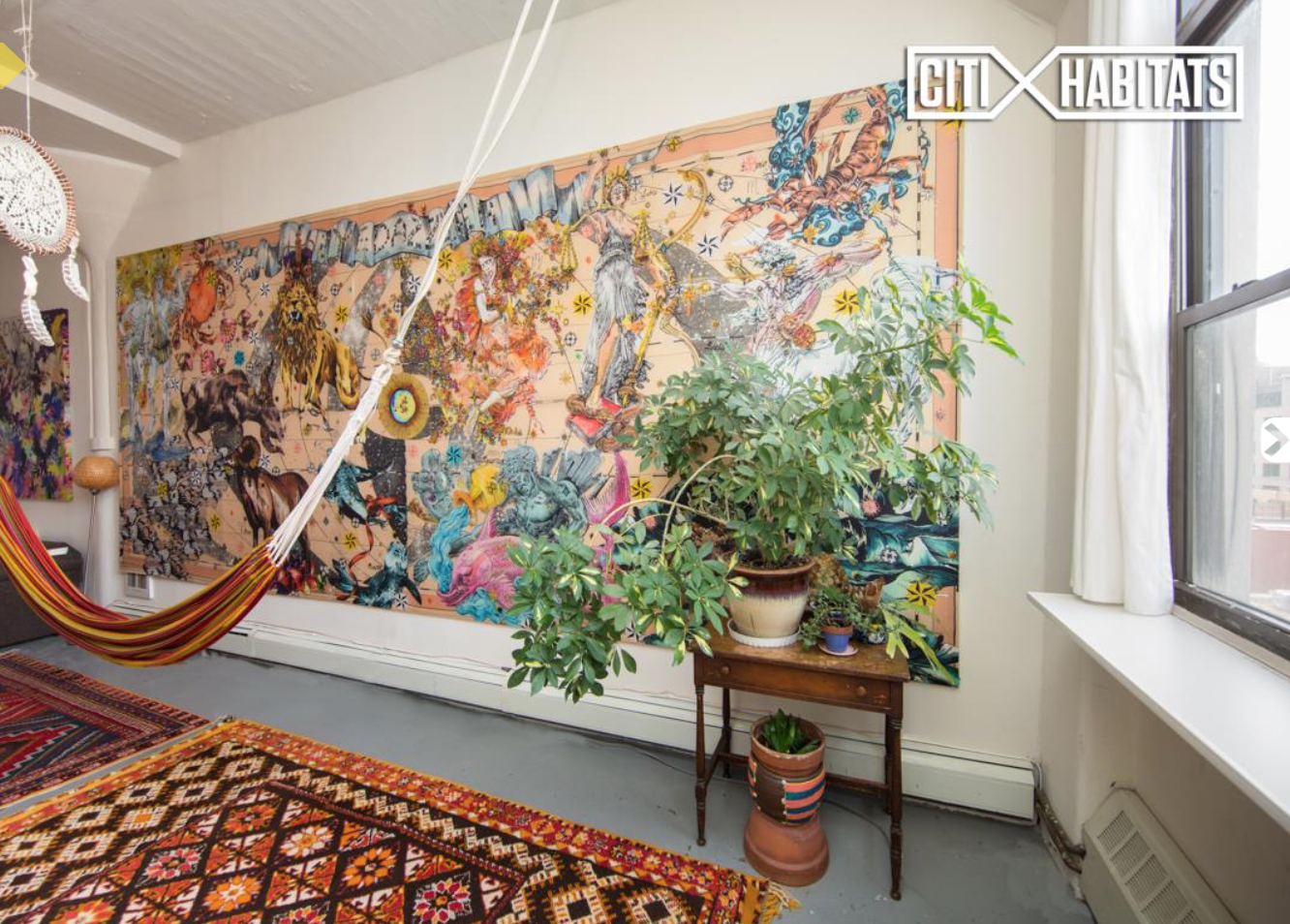 This Williamsburg loft rental comes with lots of art, if you