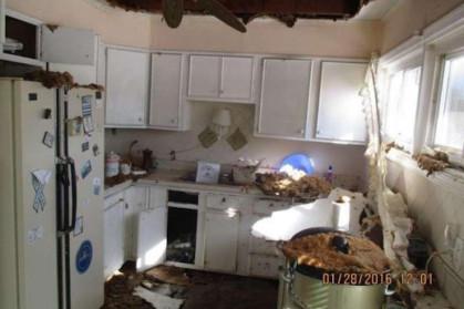 kitchen demolished destroyed